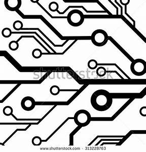 computer chip circuit board semiconductors flat stock With circuit board red