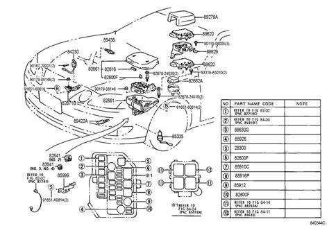 lexus es engine diagram automotive parts diagram