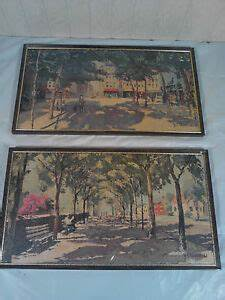 Update Resume Lot Of Two Vintage J E Warfield Sign Paintings Ebay