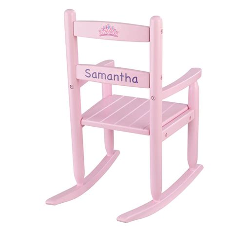 personalized 2 slat rocking chair pink by kidkraft