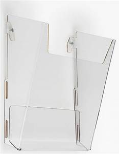 workshop series acrylic literature holder for wall fits 8 With clear plastic wall mounted document holder