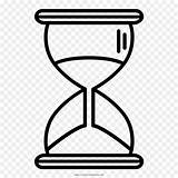 Hourglass Clock Drawing Reloj Coloring Arena Line sketch template