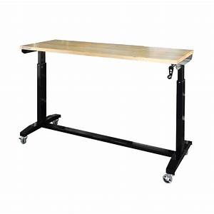 Husky 62 in x 24 in D Work Table, Black-HOLT62XDB11