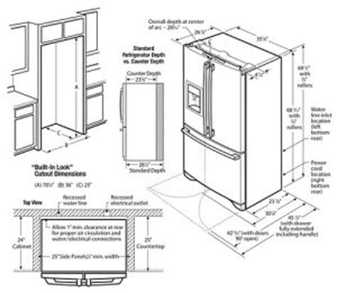 Refrigerator Dimensions Guide   Fridge Sizes