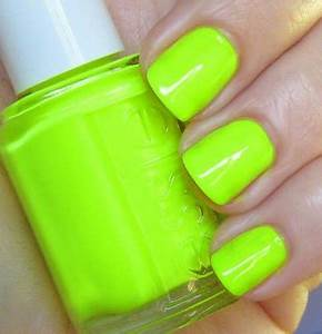 Neon Nails Essie Funky Lime Light Get Stylin