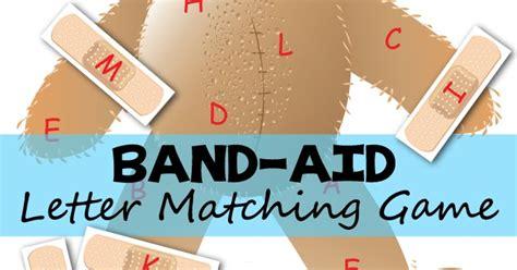 band aid bear alphabet matching totschooling toddler