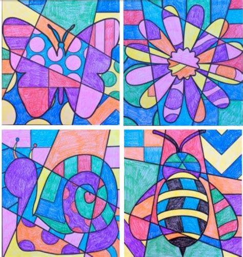 spring pop art vytvarka jaro kresby skola  kreativni