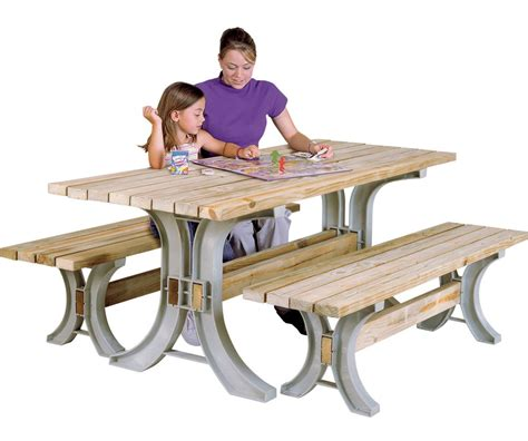 Picnic Table Bench Kit by 2x4basics Picnic Table Kit Assembly Variations