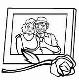 Coloring Parents Sweet Memory Gran Netart sketch template