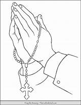 Hands Rosary Coloring Praying Prayer Drawing Holding Thecatholickid Tattoo Jesus Bead Printable Clipart sketch template