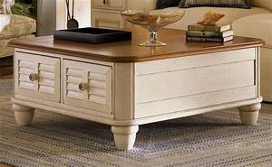 salt aire square coffee table w storage in two tone bob With two tone square coffee table