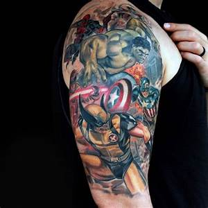 70 Captain America Tattoo Designs For Men - Superhero Ink ...
