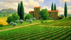 Italian Countryside Wallpaper