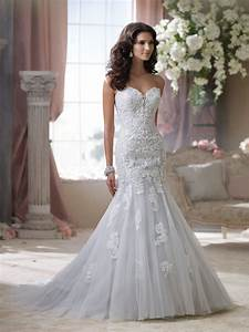 lace wedding dress With david wedding dresses