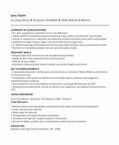 mechanic resume template 6 free word pdf document With auto technician resume templates