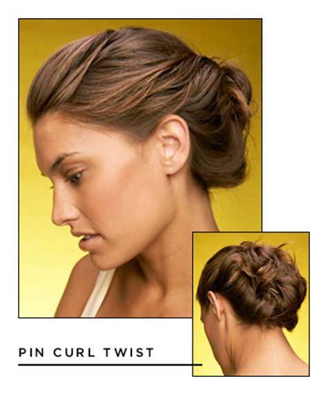 easy hairstyles  long hair pin curl twist