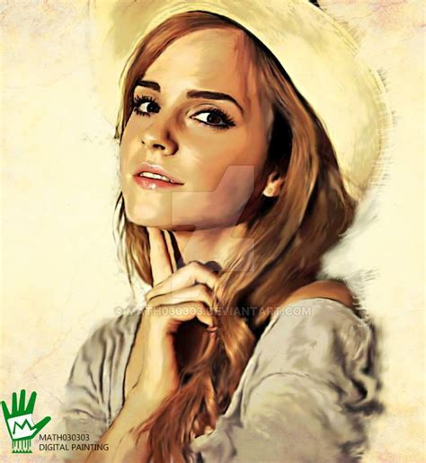 Digital Painting Emma Watson Math Deviantart