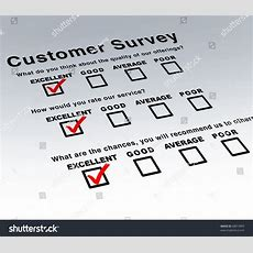 Excellent Customer Survey Very Good Service Stock