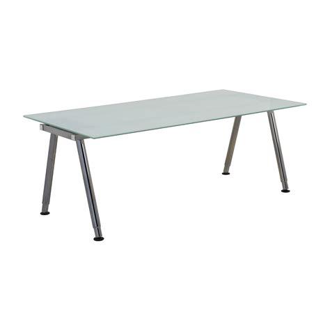 69% OFF   IKEA IKEA Galant glass Top Desk / Tables