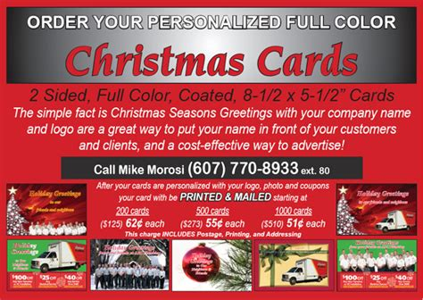 holiday cards  plumbing  hvac companies contractor