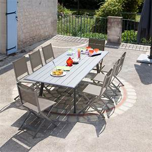 Beautiful Salon De Jardin Ice Proloisirs En Aluminium Ideas Amazing ...