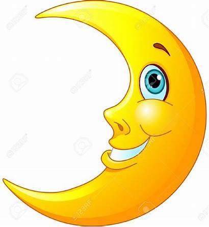 Moon Cartoon Clipart Happy Smiling Face Clip