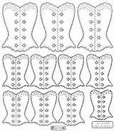 Corset Coloring Template Templates Corsets Printable sketch template