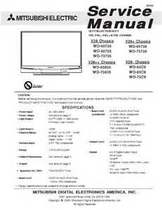 mitsubishi wd 60735 service manual free sigmaupload