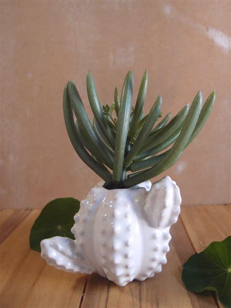 ceramic cactus bud vase