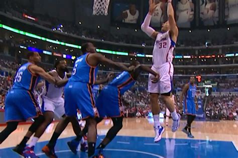 serge ibaka punched blake griffin   nuts  gif