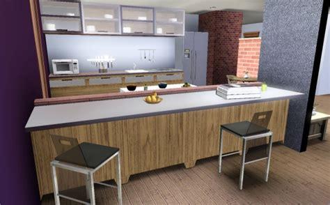 davaus cuisine moderne sims 3 avec des idées