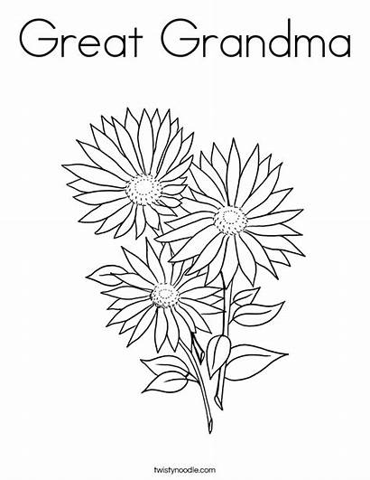 Coloring Grandma Garden Pages Well Soon Flowers