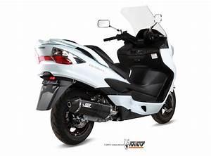 Suzuki Burgman 400 Full System Mivv Exhaust Speed Edge Black Steel