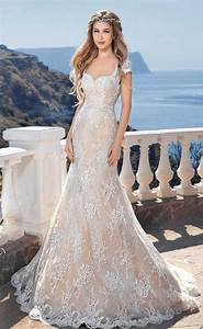Backless beach wedding gown lace mermaid bride dress for Beach wedding bride dresses