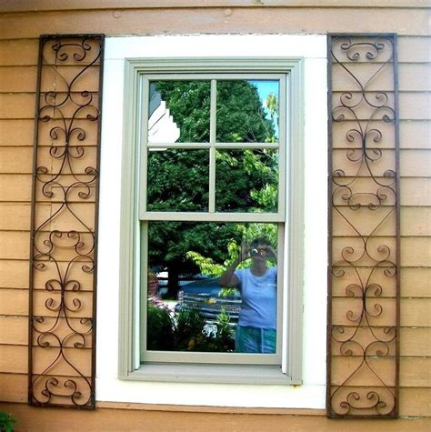 orleans wrought iron exterior window shutters metal wall for home ebay