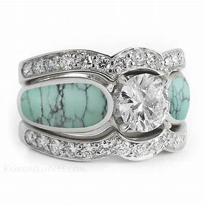 22 nice turquoise and diamond wedding rings navokalcom for Turquoise and diamond wedding ring