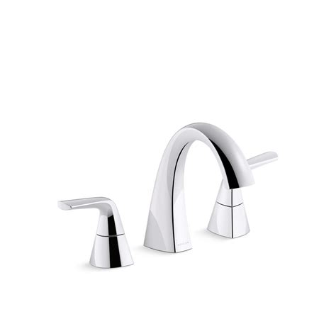 kohler elmbrook   widespread  handle bathroom faucet  polished chrome   cp