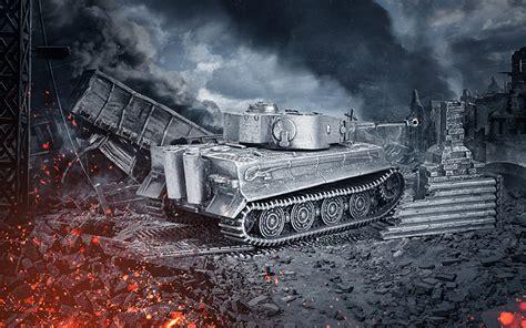 wallpaper wot tank tiger model vdeo game