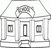 School Building Clip Art Black And White – 101 Clip Art
