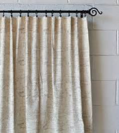 scripted linen designer drapery curtain panels two