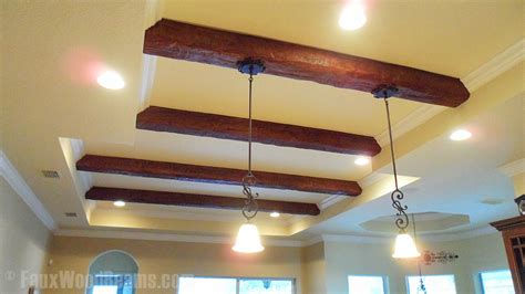 rustic ceiling fans diy hanging lights installation faux wood workshop