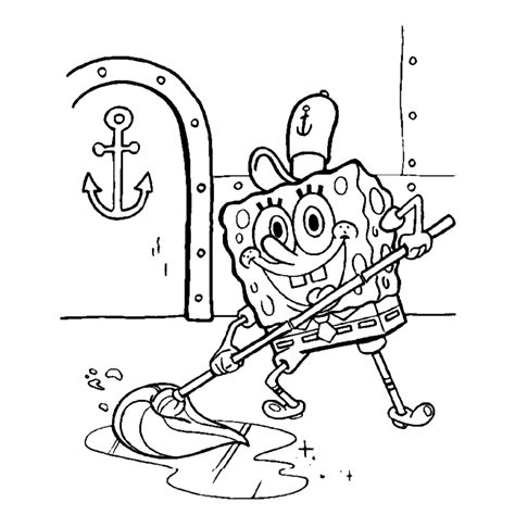 Kleurplaat Spongebob Printen by Spongebob Squarepants Kleurplaten Kleurplatenpagina Nl