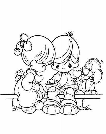 Coloring Pages Boy Precious Moments Clipart Boys