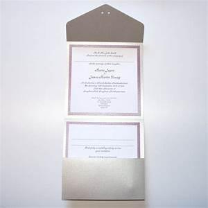 engraved pocket fold wedding invitation inside by With wedding invitations with inside pocket