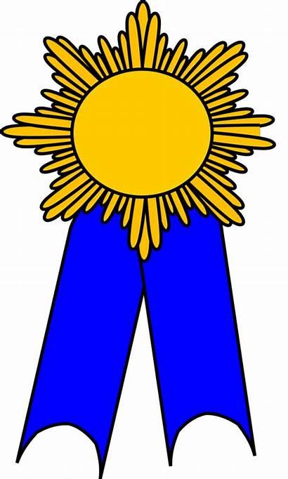 Ribbon Prize Gold Transparent Clipart Medallion Background