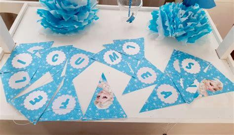 Cartel De Feliz Cumpleaños De Frozen $ 190 00 en Mercado