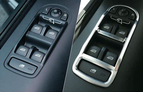Pcs Chrome Inner Door Armrest Window Lift Button Cover