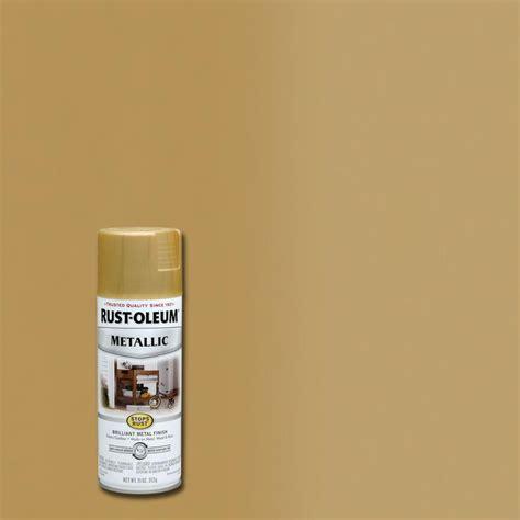 rust oleum stops rust  oz metallic gold rush protective