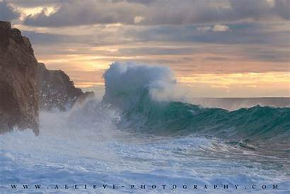 Rough Sea Burst Waves Wave Allievi Making