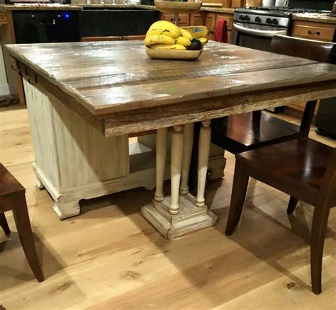 island tables for kitchen with chairs from buffet to rustic kitchen island hometalk